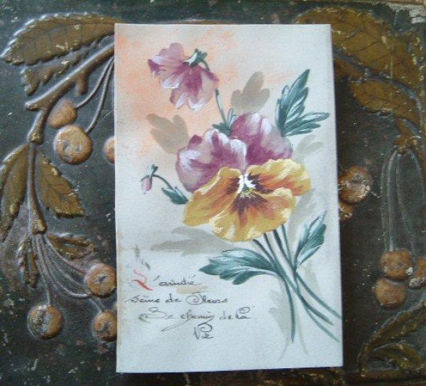 画像1: セルロイドカード パンジー