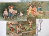 アンティークポストカード3枚セット 「子供たち」