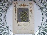 チュール刺繍のアンティークカード - ヤドリギ