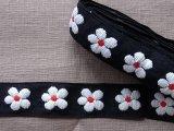 ヴィンテージ 花の刺繍トリム