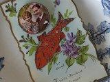 アンティークセルロイドカード「Poisson d'Avril」 2人の写真