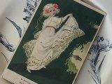 アンティークポストカード「Poisson d'Avril」 踊る少女
