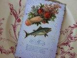 アンティークポストカード「Poisson d'Avril」 ブーケを持つ手