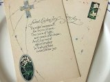 アンティークポストカード2枚セット Pâques「鈴蘭と百合」