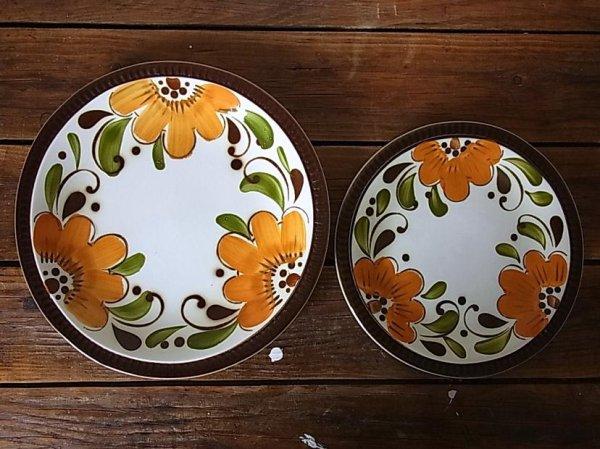 画像2: ベルギーBOCH ディナープレート オレンジフラワー