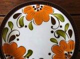 ベルギーBOCH デザートプレート オレンジフラワー
