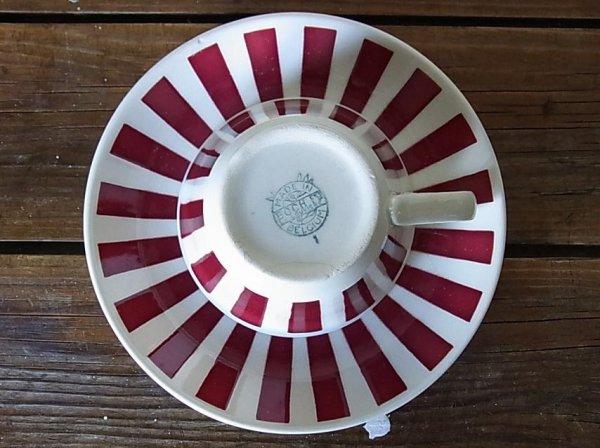 画像2: ベルギーBOCH カップ&ソーサー 赤ライン