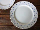 ベルギーBOCH ディナープレート 青い星