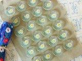 アンティークガラスボタンシート お花