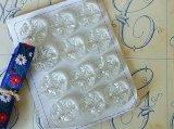 アンティークガラスボタンシート 丸xクロスカット