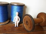 アンティーク 大きめ木製ボビン(糸巻き)