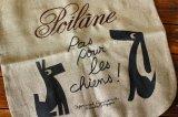 フランスPoilane(ポワラーヌ) リネンバッグ 犬モチーフ