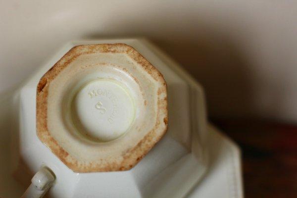 画像5: フランスMontereau製 オクトゴナルカップ&ソーサー(2)