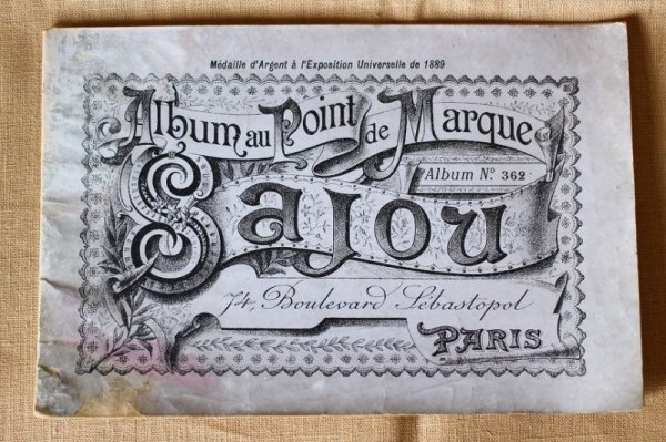 画像1: アンティークSajou クロスステッチ刺繍図案『Album au Point de Marque Sajou No.362』