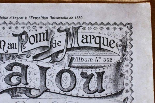 画像2: アンティークSajou クロスステッチ刺繍図案『Album au Point de Marque Sajou No.362』
