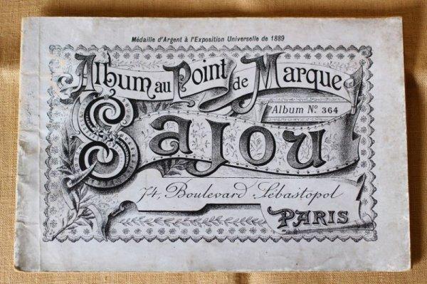 画像1: アンティークSajou クロスステッチ刺繍図案『Album au Point de Marque Sajou No.364』