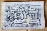 アンティークSajou クロスステッチ刺繍図案『Album au Point de Marque Sajou No.366』