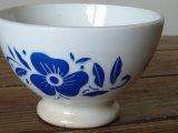 ベルギーBOCH カフェオレボウル 青い花