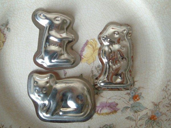 画像1: プチチョコレートモールド うさぎ・ねこ・クマ