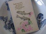 アンティークポストカード「Poisson d'Avril」 2匹の魚