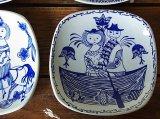ノルウェー Stavangerflint 飾り皿(小) -B