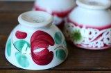 ベルギーBOCH B.F.K. プチプチボウル 赤い花