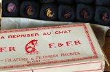 ベルギー製 箱入り糸巻きセット F.&F.R.