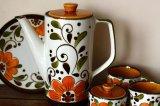 ベルギーBOCH コーヒーポットMサイズ オレンジフラワー