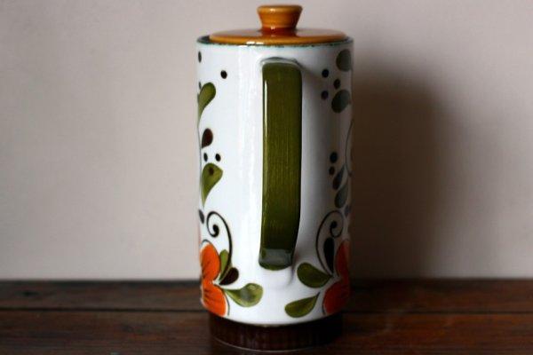 画像3: ベルギーBOCH コーヒーポットMサイズ オレンジフラワー