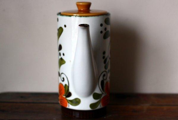 画像5: ベルギーBOCH コーヒーポットMサイズ オレンジフラワー