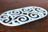 アンティーク アイアントリベット(鍋敷き) 白 Lサイズ