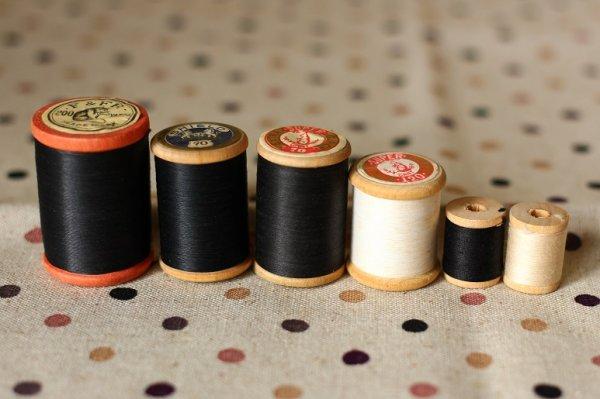 画像2: ベルギー製 極小サイズの糸巻き