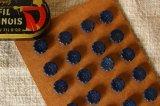 アンティークプチボタン 藍色の花